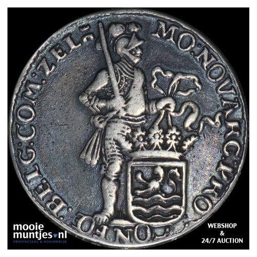 Zeeland - Halve zilveren dukaat - 1673 (kant B)