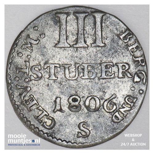 3 stuber - grand duchy - German States/Berg 1806 S (KM 10) (kant A)