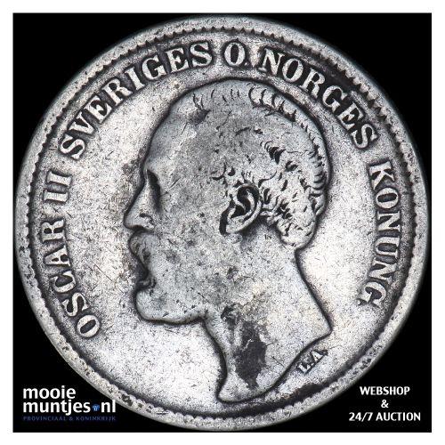 2 kronor - Sweden 1876 (KM 742) (kant B)