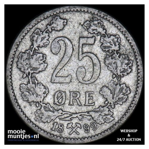 25 ore - Norway 1899 (KM 360) (kant A)