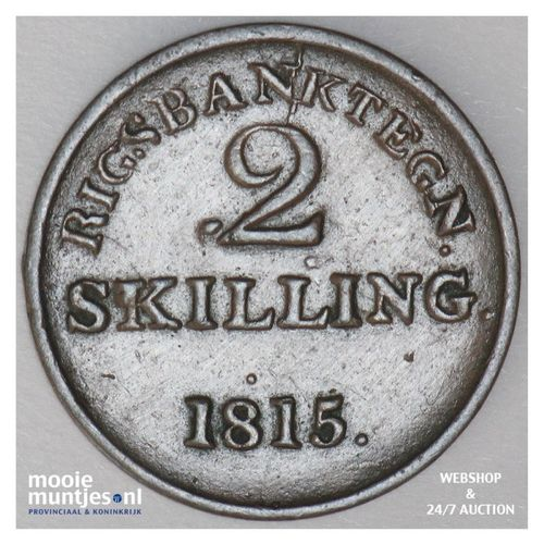 2 skilling (token coinage) - Denmark 1815 (KM Tn4) (kant A)