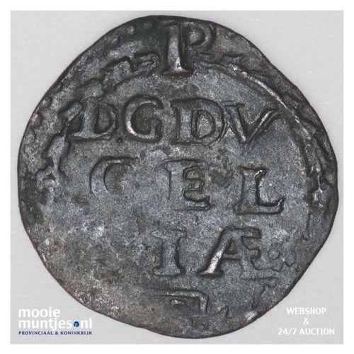 Roermond - Achtste stuiver of duit van 6 mijten - z.j. (1639) (kant A)