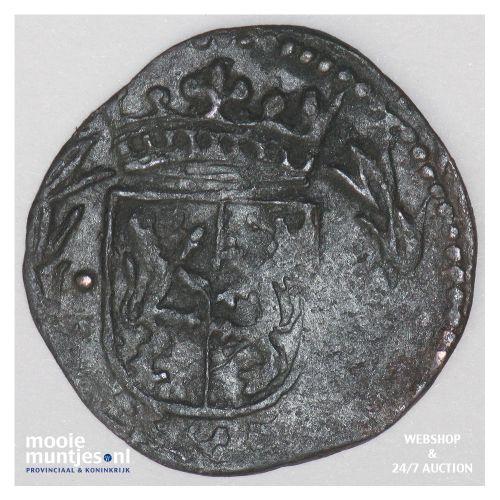 Roermond - Achtste stuiver of duit van 6 mijten - z.j. (1639) (kant B)