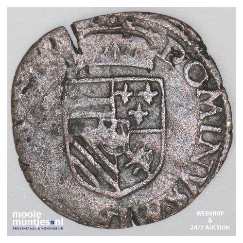 Brabant-Maastricht - Achtste stuiver of duit van 6 mijten - 1596 (kant B)