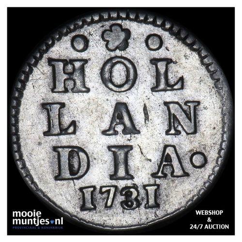Holland - Dubbele wapenstuiver - 1731 (kant A)
