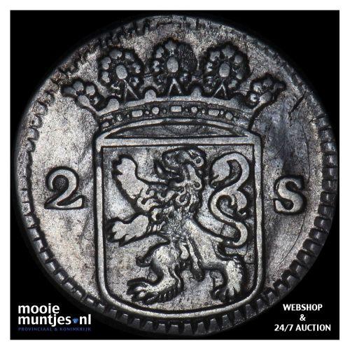 Holland - Dubbele wapenstuiver - 1731 (kant B)