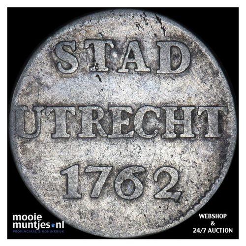 Stad Utrecht - Duit - 1762 (kant A)