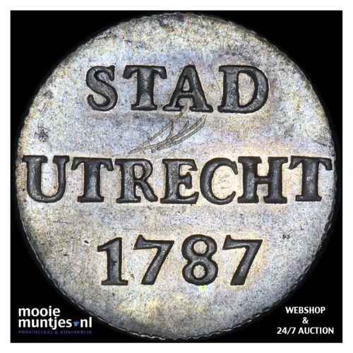 Stad Utrecht - Duit - 1787 (kant A)