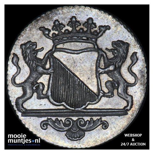 Stad Utrecht - Duit - 1787 (kant B)