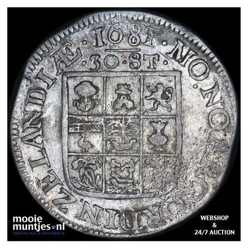 Zeeland - Daalder van 30 stuiver - 1681 (kant A)