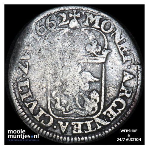 Zwolle - Halve schelling - 1662 (kant A)