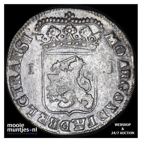 Overijssel - Gulden - 1722 (kant B)