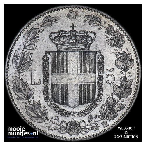 5 lire - Italy 1879 (KM 20) (kant B)