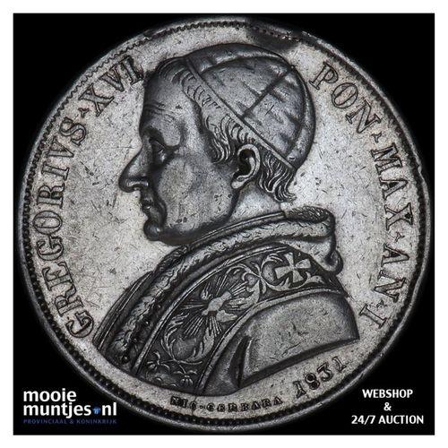 scudo - Italian States/Papal States 1831 (KM 1315.1) (kant A)
