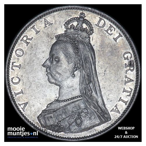 double florin - Great Britain 1887 (KM 763) (kant B)