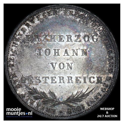 2 gulden - German States/Frankfurt am Main 1848 (KM 338) (kant B)