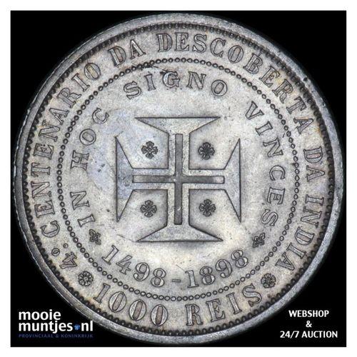 1000 reis - Portugal 1898 (KM 539) (kant A)
