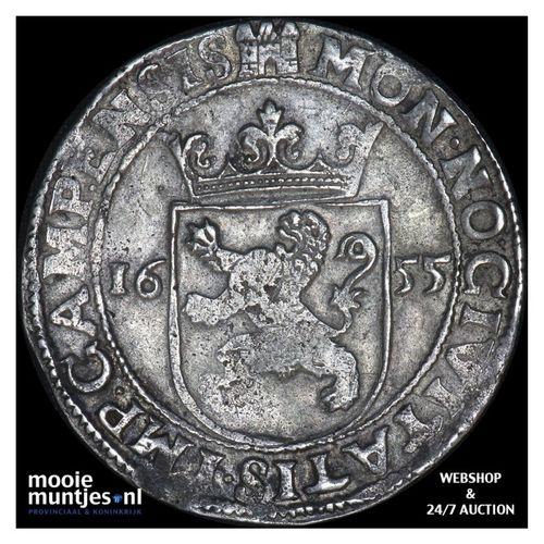 Kampen - Nederlandse rijksdaalder - 1655 (kant A)