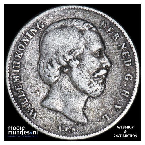 ½ gulden - Willem III - 1861 (kant B)