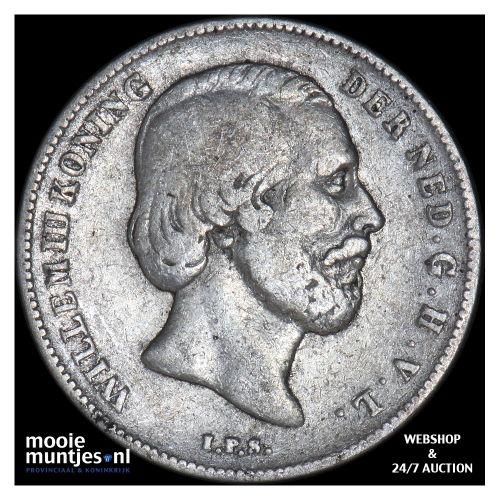 ½ gulden - Willem III - 1868 (kant B)