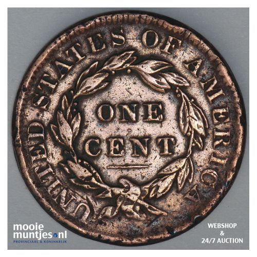 cent - coronet - United States of America/Circulation coinage 1834 (KM 45) (kant