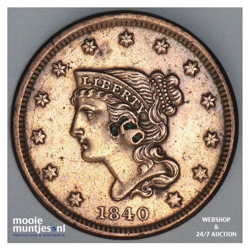cent - braided hair - United States of America/Circulation coinage 1840 (KM 67)
