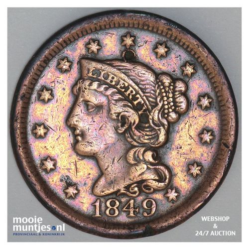 cent - braided hair - United States of America/Circulation coinage 1849 (KM 67)