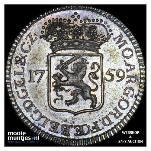 Gelderland - Kwart gulden - 1759 (kant A)