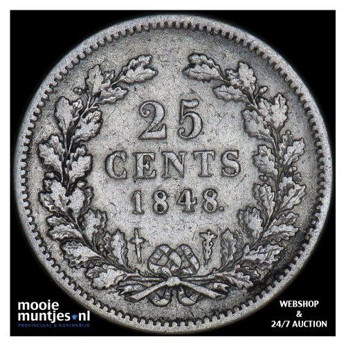 25 cent - Willem II - 1848 (kant A)