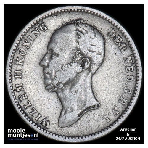 25 cent - Willem II - 1848 (kant B)