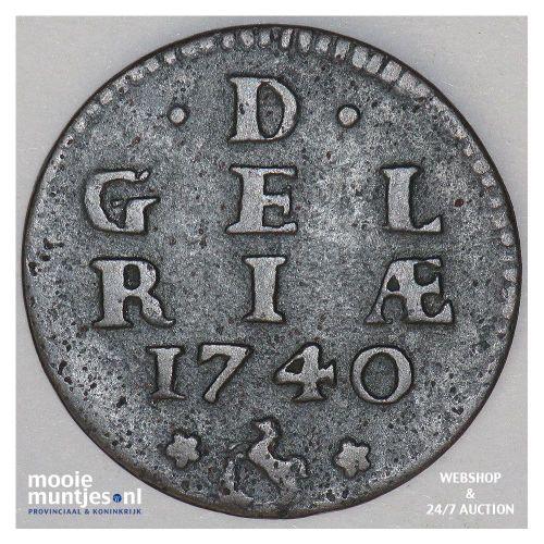 Gelderland - Duit - 1740 (kant A)