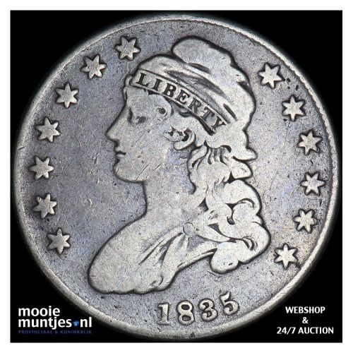 half dollar - capped bust - United States of America/Circulation coinage 1835 (K