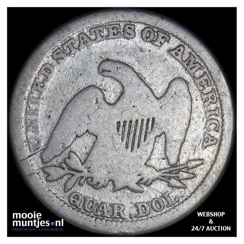 quarter - seated liberty - United States of America/Circulation coinage 1854 (KM