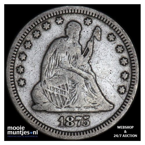 quarter - seated liberty - United States of America/Circulation coinage 1875 (KM