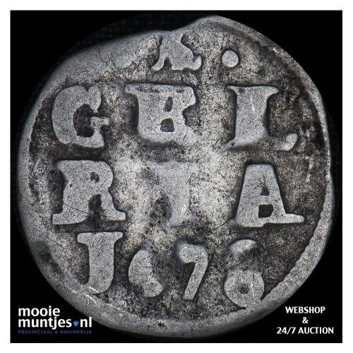 Gelderland - Dubbele stuiver - 1678 (kant A)