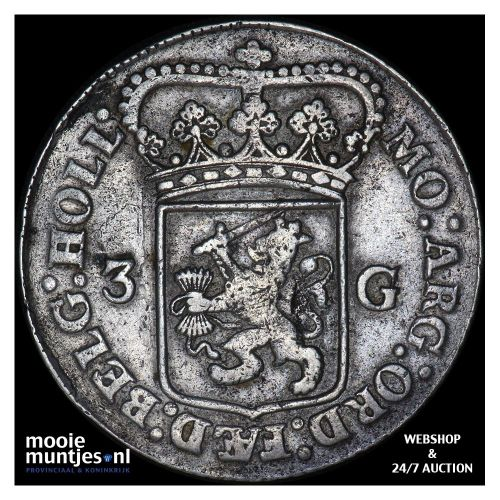 Holland - 3 gulden - 1795 (kant B)