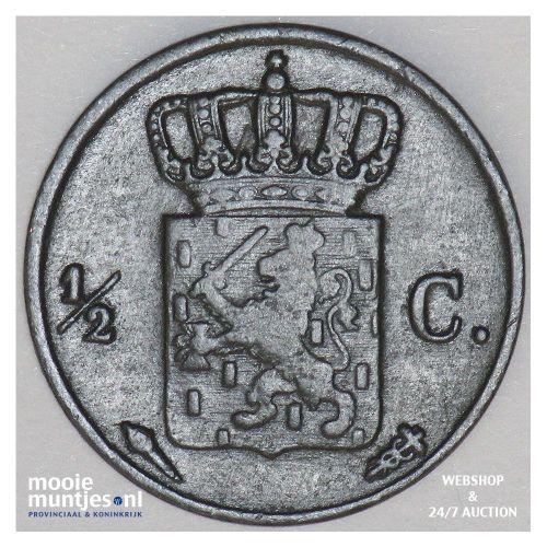 ½ cent - Willem I - 1837 (kant B)