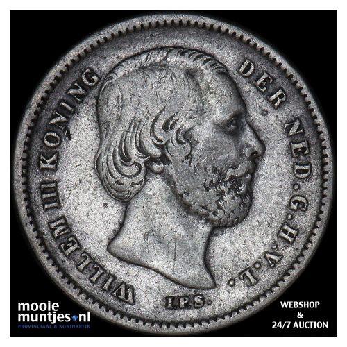 25 cent - Willem III - 1890 b (zonder punt) (kant B)