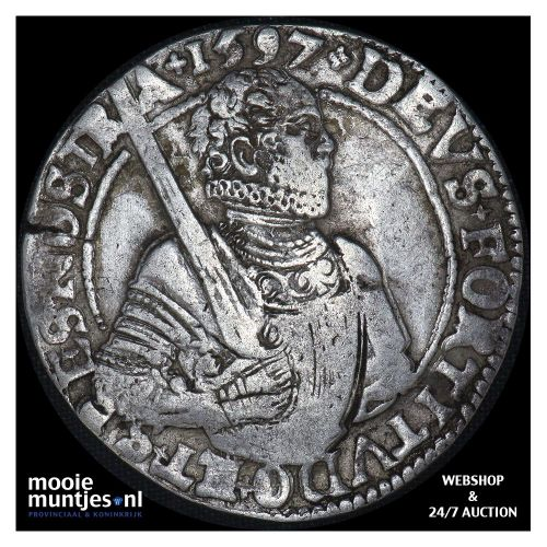 West-Friesland - Gehelmde rijksdaalder of Prinsendaalder - 1597 (kant A)