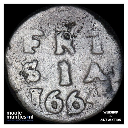 Friesland - Dubbele stuiver - 1664 (kant A)