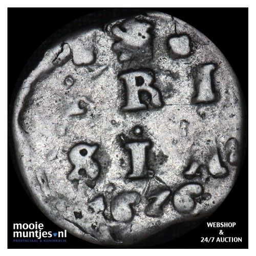 Friesland - Dubbele stuiver - 1676 (kant A)