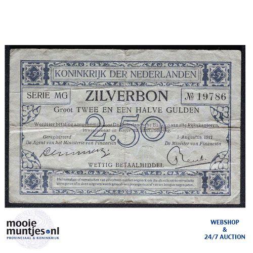 2½ gulden - 1915 (Mev. 11-3a / AV 9) (kant A)
