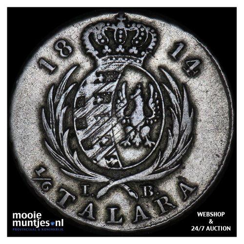 1/6 talara - Poland 1814 (KM C# 85) (kant A)