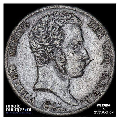 ½ gulden - Willem I - 1822 a Utrecht (kant B)