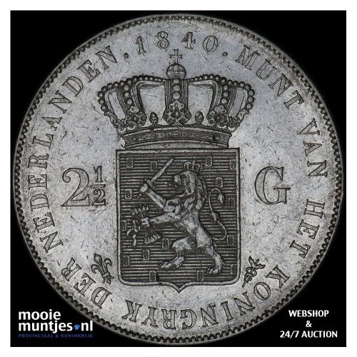 2½ gulden - Willem I - 1840 (kant A)