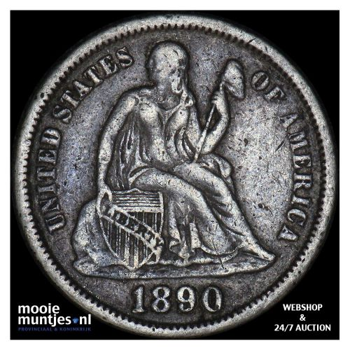 dime - seated liberty - United States of America/Circulation coinage 1890 (KM A9