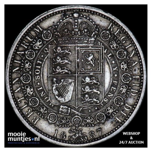 1/2 crown - Great Britain 1887 (KM 764) (kant A)