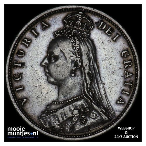 1/2 crown - Great Britain 1887 (KM 764) (kant B)
