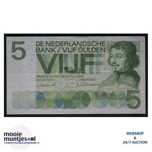 5 gulden - 1966 (Mev. 23-1b / AV 18) (kant A)