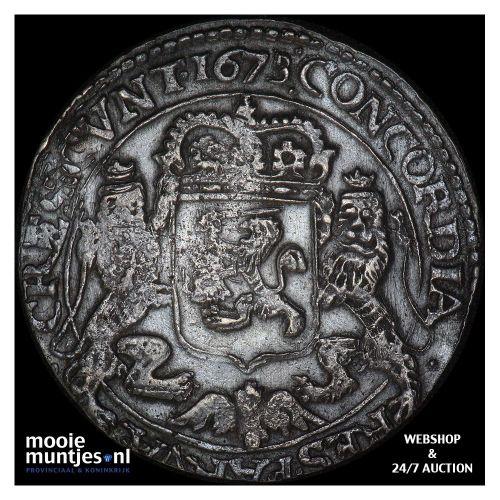 West-Friesland - Zilveren rijder of dukaton - 1673 (kant A)